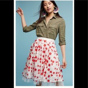 ‼️HTF Anthropologie Lola Petal Skirt 0‼️